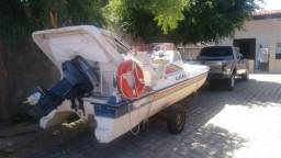Vendo casco e motor catamarã original R$ 6.500 - 1990