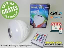 Lâmpada Musical Original Led Bluetooth com controle remoto (Aceito cartão e entrego)