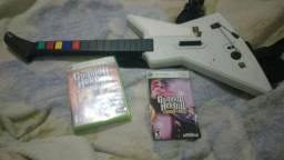 Guitarra Xbox mais jogo original