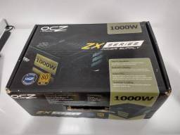 Fonte OCZ zx1000w 80 Plus Gold Full Modular