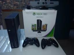 Xbox 360 Bloqueado + HD 500 GB + Kinect + 2 Controles + 7 jogos originais