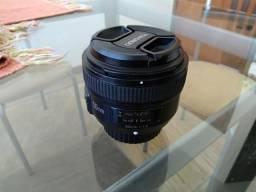 Lente 50mm 1.8 Yougnuo para câmera Canon