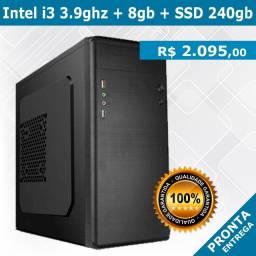 Computador - Intel i3 3.9ghz + 8gb + SSD 240gb - Novo - Pronta Entrega