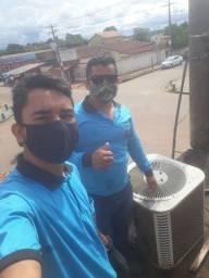 Manutenção instalação consertos carga de gás central ar