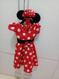 Vestido da Minnie e saia de tule
