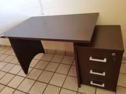 Escrivaninha Artesano com 03 gavetas de madeira