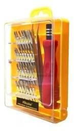 Kit Chaves Ferramentas de Precisão + Pinça para Eletronicos 32x1 -