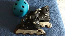 Patins Traxart Wolf In Line Abec 3 (grátis Capacete) Tam 37