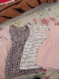 Lote vestidos Carter's Tam 1 ano