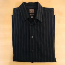 Camisa Social Calvin Klein azul escura tamanho M