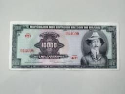 C060 Nota Antiga 10 mil Cruzeiros. Santos Dumont sem carimbo
