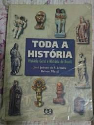 Livro Toda a história História geral e história do Brasil José Jobson