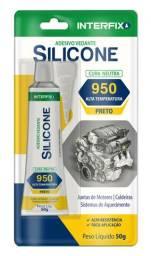 Silicone 950 cinza alta temperatura Interfix