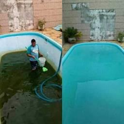Pintura piscina + troca de areia promoção