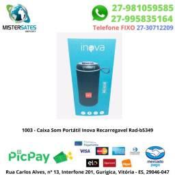 1003 - Caixa Som Portátil Inova Recarregavel Rad-b5349