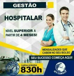 Título do anúncio: Faça já o Curso Superior Sequencial Gestão em Hospitalar.
