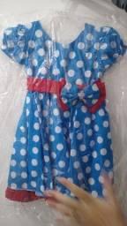 Vestido de Festa Infantil Crianças Baby - Fantasia da Galinha Pintadinha