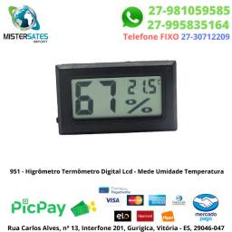951 - Promoção - Higrômetro Termômetro Digital Lcd - Mede Umidade Temperatura