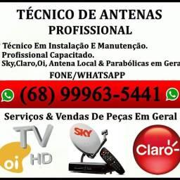 Título do anúncio: Técnico de Antenas Profissional.