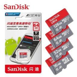 Cartão Micro SD Sandisk 16/32/64/128 GB