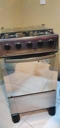 Fogão 4 bocas espelhado - cor inox