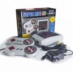Título do anúncio: Console Game Super Mini Md 16bits 167 Jogos de Mega Drive Genesis