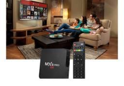 Kit com  Box Tv Android 10.1 Configurado com lista IPTV