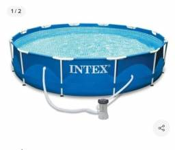Piscina 6500 litros com bomba intex