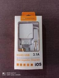Carregador de iPhone 3.1 A turbo hamston