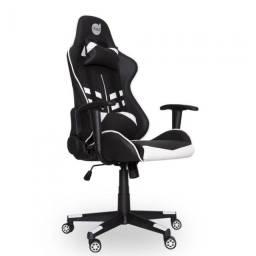Cadeira Gamer PrimeX Preto/Branco Dazz - Loja Natan Abreu