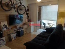 Título do anúncio: Apartamento com 2 dormitórios à venda, 67 m² por R$ 540.600,00 - Encruzilhada - Santos/SP