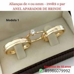Título do anúncio: Lindas alianças de noivado-casamento.