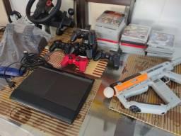 Título do anúncio: PS3 completo  com kit movie