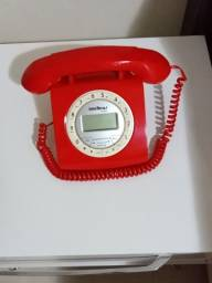 Telefone novo  retrô Intelbras estudo troca