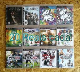 Jogos PlayStation 3 - Valores nas fotos.
