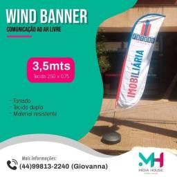 Wind Banner Personalizado FORRADO 3,5mts