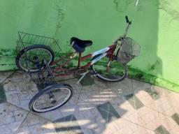 Vendo bicicleta triciclo e duas média