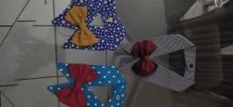 Gravatinhas de tecidos tamanho 1-2-3