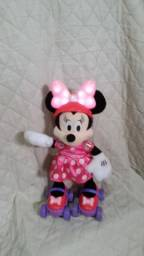 Boneca Minnie Mouse Patinadora Patins divertido