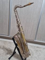 Sax Tenor Amati Kraslice Toneking banho Prata Original