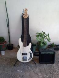 Combo Bass + amplificador de som