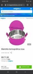 Garrafinha Térmica e Marmitex Rosa