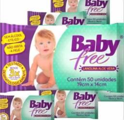 48 lenços umedecidos baby free com 50un cada