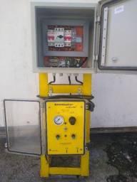 Controladora para bomba pneumática painel de comandos e suporte