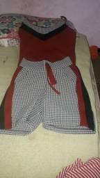 Conjuntinho blusa e short