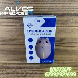 Título do anúncio: Umidificador noturno USB LED LKJ-106