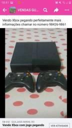 Título do anúncio: Xbox com controle pegando perfeitamente