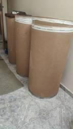 Tonel barril de papelão
