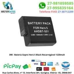 398 - Promoção - Bateria Gopro Hero 5 Black Recarregável 1600mah
