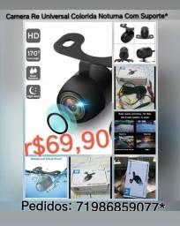 Camera Re Universal Colorida Noturna Com Suporte r$69,90